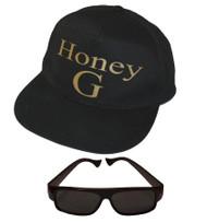 Adults Unisex Honey G Gangster Rapper Hat & Glasses