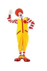Ronald The Clown Fancy Dress Costume Jumpsuit & Accessories