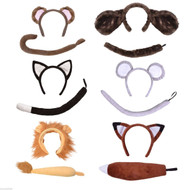 Childrens Farm Animal Fancy Dress Costume Accessories Kit Pet Zoo Ears and Tail Set
