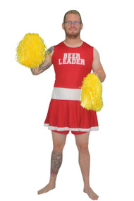 Mens Red Beer Leader Dress - Fancy Dress Funny Stag Party Costume