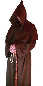 Mens Brown Viking Monks Robes Monk Friar Tuck Robe Halloween Fancy Dress Costume