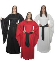 Ladies Medieval Sorceress LARP Fancy Dress Womens Game Of Thrones Cosplay Costume
