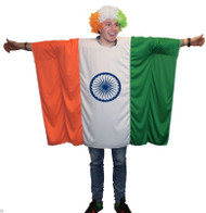 Unisex Indian Flag Poncho World Cup Football One Size Cricket Fan Costume