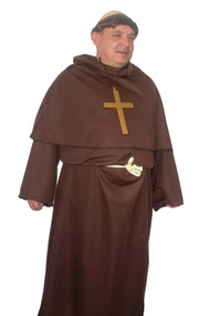 Fryer Tuck Funny Buckfast Robe and Monk Wig Fancy Dress Costume