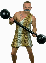 1920s 40s Circus Strongman & Weights Fancy Dress Mens Stag Party Costume
