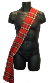 6ft Tartan Sash... Burns Night Royal Stuart Tartan Sash