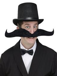 Adult Gentlemans 20 Inch Black Bendy Mens Fancy Dress Wacky Mustache