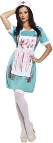 Bloody Mad Nurse Halloween Fancy Dress Costume 8-12 UK