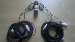 80-40-20 meter fan dipole with 1:1 balun Flex-Weave