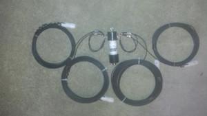 160/80 meter fan dipole with 1:1 balun flex-weave