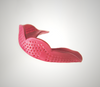 Raspberry Red SISU Aero Team Sports Mouthguard