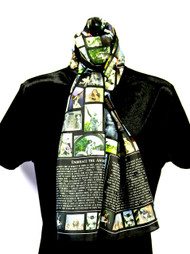"This Black 11"" x 60"" Embrace the Angel 100% pure silk scarf is covered with 100's of photographs and images of Angels from all over the world. With Angel quotes that elevate and inspire, this special gift is perfect for those you love and those who LOVE Angels!"