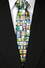 """Embrace the Angel"" Silk Tie—Black"