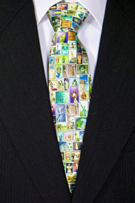 """Embrace the Angel"" Silk Tie—Cream"