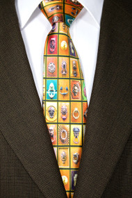 """Knockers of Tuscany"" Silk Satin Tie"