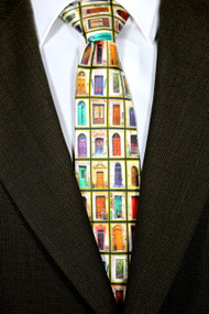 """Doors of Tuscany"" Silk Satin Tie"