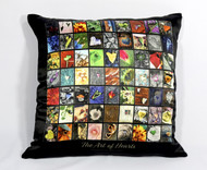 "The ""Art of Hearts"" Silk Satin Pillow Cover"
