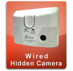 Carbon Monoxide Detector Wired Hidden Nannycam  -  CMOX-WIRED