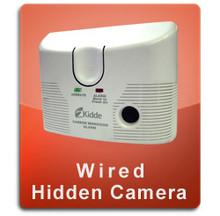 Carbon Monoxide Detector Wired Hidden Nannycam  -  CMOX-WIRED