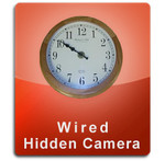 Oak Clock Wired Series Hidden Nanny Camera  -  OAKCLOCK-WIRED