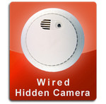 Smoke Detector Wired Series Hidden Nanny Camera  -  SMOKE-WIRED