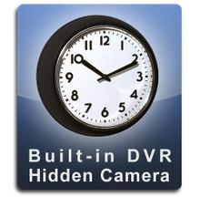 Built-In DVR Wall Clock Hidden Camera Spoy Camera Nanny Cam Black Frame