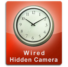 Wired Series Wall Clock Hidden Camera  -  WALLCLOCK-WIRED