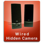 Wired Series Computer Speakers Hidden Cameras
