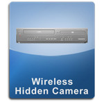 Wireless Hidden Camera DVD VCR Spy Camera