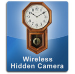 Oak Clock Wireless 1000 Hidden Camera Spy Camera Nanny Cam  -  OAKCLOCK-1000