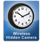 Wireless 1000 Wall Clock Hidden Camera Spy Camera Nanny Cam  -  WALLCLOCK-1000 Black Frame