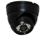 Color Switching Outdoor High Res Mini Night Vision Security Camera Dome Black