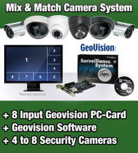 Geovision 4 to 8 Camera Video Security Camera System with ...