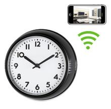 WiFi Black Frame Office Style Wall Clock Hidden Camera Spy Camera Nanny Cam