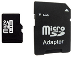 Micro SD Card with SD Adapter
