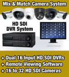 HD SDI DVR based Security Camera System with 16 to 32 HDSDI Security Cameras