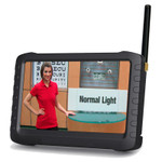 Wireless 5.8 GHz Receiver Monitor and Built-in DVR 16 Channels