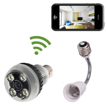 Light Bulb WiFi Hidden Camera with Built-in HD DVR with WiFi Remote Viewing from iPhone and Android Smartphones