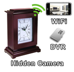 WiFi Series Square Mantel Clock Hidden Camera Spy Camera Nanny Cam WiFi Remote Viewing from iPhone Android PC