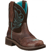Ariat Women's Fatbaby Heritage Dapper Western Boots - Chocolate 10016238
