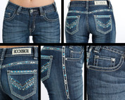 Rock & Roll Cowgirl Denim Juniors Low Rise Boot Cut WO4485