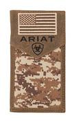 Ariat Patriot Digital Camo Flag Rodeo Wallet / Checkbook Cover A3536444