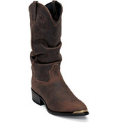 Durango Mens Distressed Brown Slouch Cowboy Boots