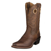 Ariat Mens Heritage Roughstock Brown Oiled Rowdy Boots