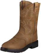 Ariat Mens Aged Bark Sierra Saddle Pull On Work Boots