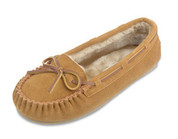 Minnetonka Womens Pile Lined Cally Cinnamon Slipper Moccasin
