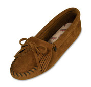 Minnetonka Womens Brown Suede Kilty Softsole Moccasin