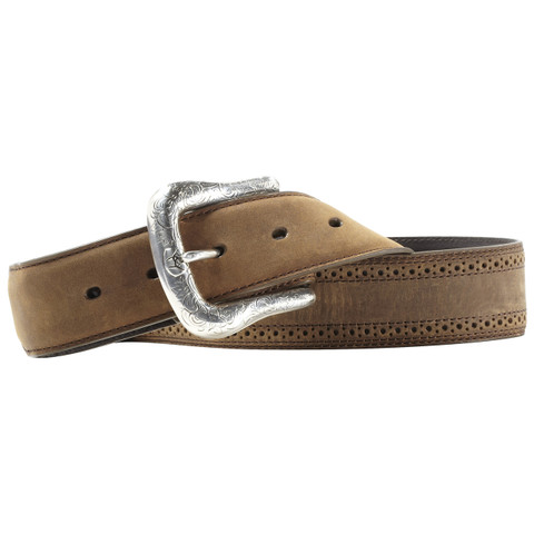 Ariat Distressed Brown Leather Western Belt