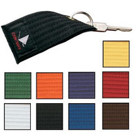 Made from an actual rank belt, perforated with a heavy, metal key ring.