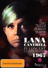 Lana Cantrell - In Concert & Conversation, 1967 DVD